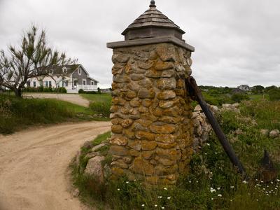 Block Island Dirt Driveway Entrance