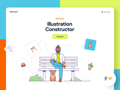 Wrrooom! Illustration Constructor vector constructor scene generator ui sketch design freebie download illustration