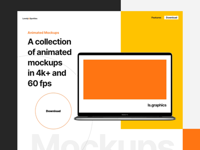 Animated Mockups for AE after effect animate live mockup looped animated mockup download mockup