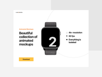 Animated Mockups for AE watch mockup hero header animated mockup animated