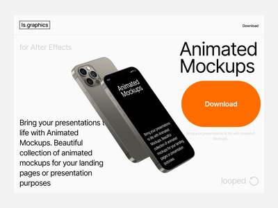 iPhone 12 Pro Max Animated Mockups after effects iphone 12 pro max iphone iphone 12 animated free download mockup