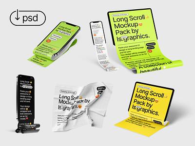 Long Scroll Mockups ipad mockup iphone mockup macbook mockup ipad iphone longscroll download psd mockup