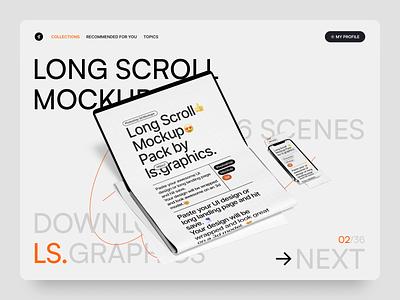 Longscroll mockups photoshop psd website design ui download