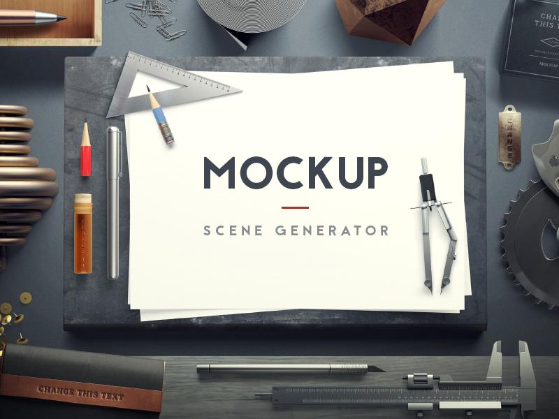 Mockup Scene Generator [+ Free Sample] scene generator mockup freebie free