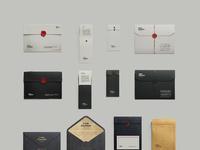 4  folders envelopes