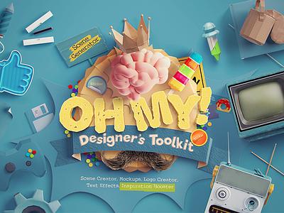 Oh My! Designer's Toolkit diy mockup scene generator scene creator mockup premium freebie psd
