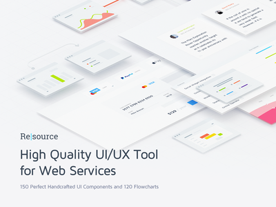 Resource | High Quality UI/UX Tool for Web Services web service webservices site ux premium download flowcharts freebie free ui kit