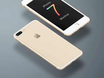 Free iPhone 7 Mockup (Trendy) psd mockup sketch photoshop mock-up apple iphone iphone 7 free download
