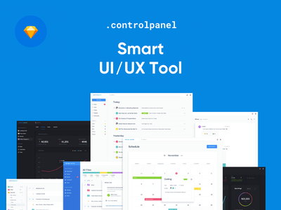 Control Panel dashboard web design system ui kit chat ux ui