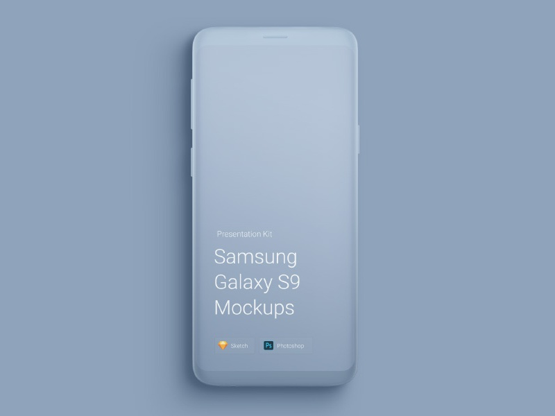 Free Samsung Galaxy S9 Mockups mock-up sketch psd download mockups galaxy s9 samsung free