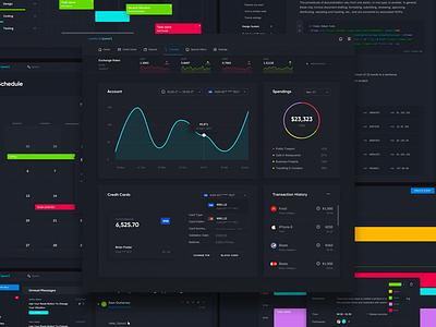 Control Panel dashboard ui ux chat ui kit design system web
