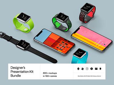 Presentation Kit Update iphone x microsoft surface studio mockups mockup download sketch psd device mock-up
