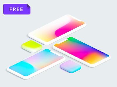 Free Gradient Mesh Pack sketch illustrator download mesh gradient freebie free