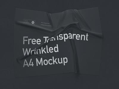 Free Transparent Wrinkled A4 Mockup