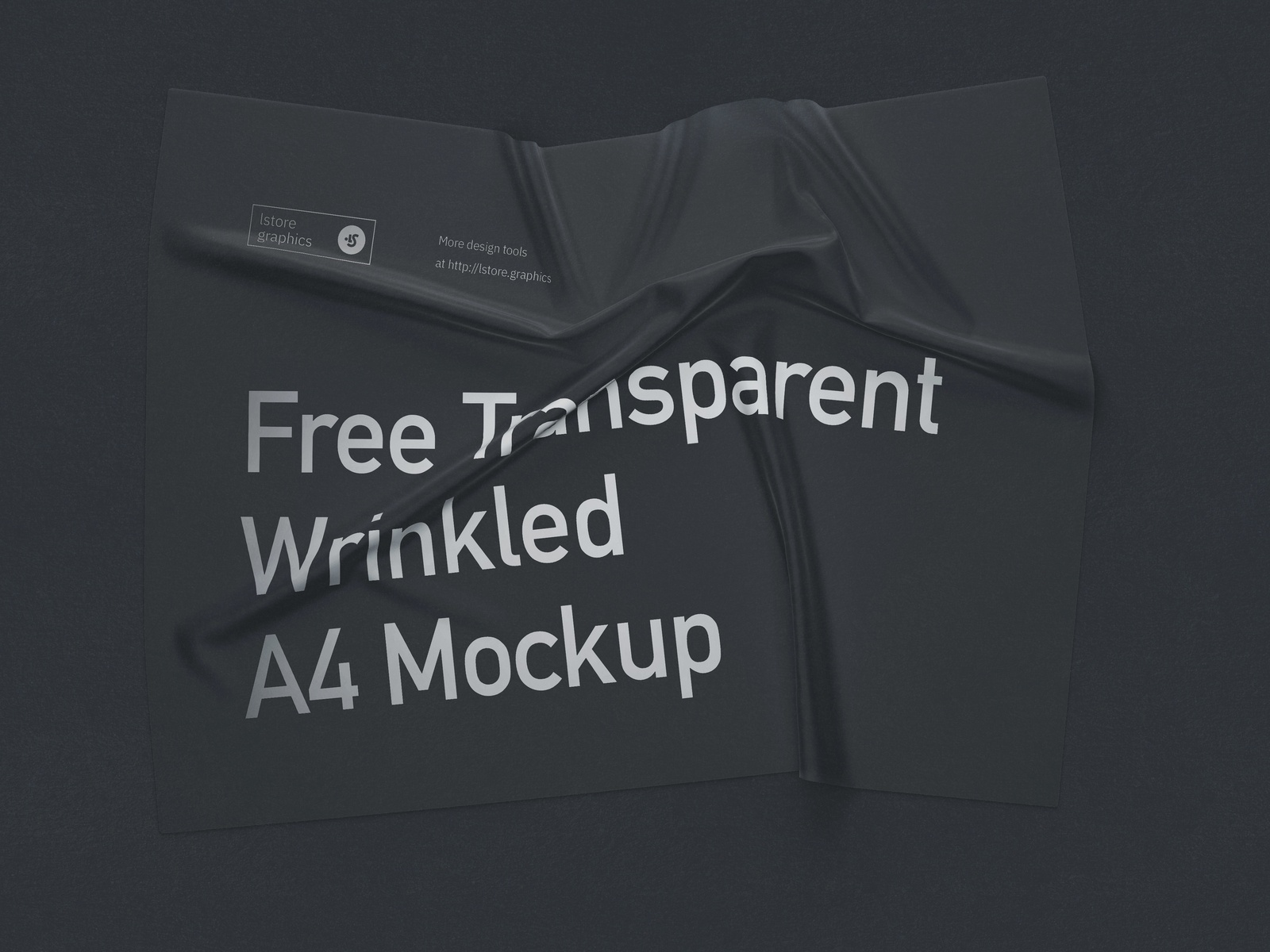Free Transparent Wrinkled A4 Mockup a4 fabric psd ui mock-up freebie download free mockup