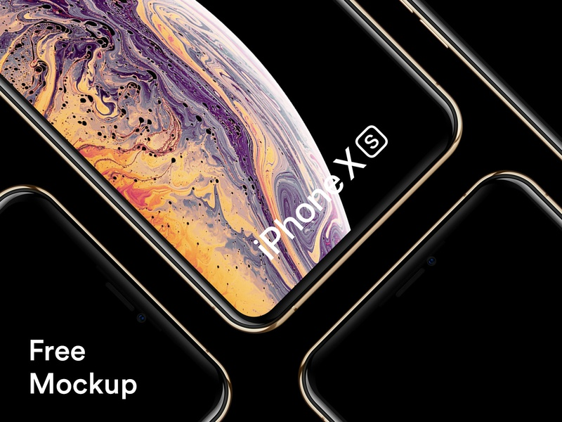Free iPhone Xs and iPhone Xs Max Mockups photoshop psd sketch mockup iphone xs max iphone xs