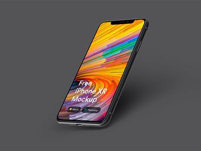 Free iPhone XR Mockup download design mock-up iphone iphone xr mockup psd free freebie