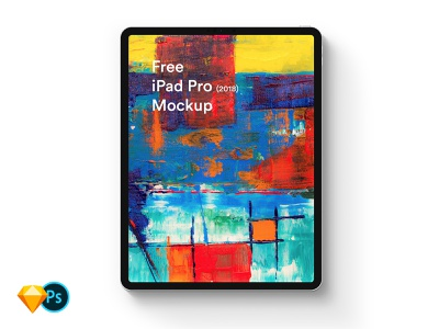 Free iPad Pro (2018) Mockup diy mockup freebie download sketch mock-up ipad pro 2018 ipad ipad pro free psd mockup