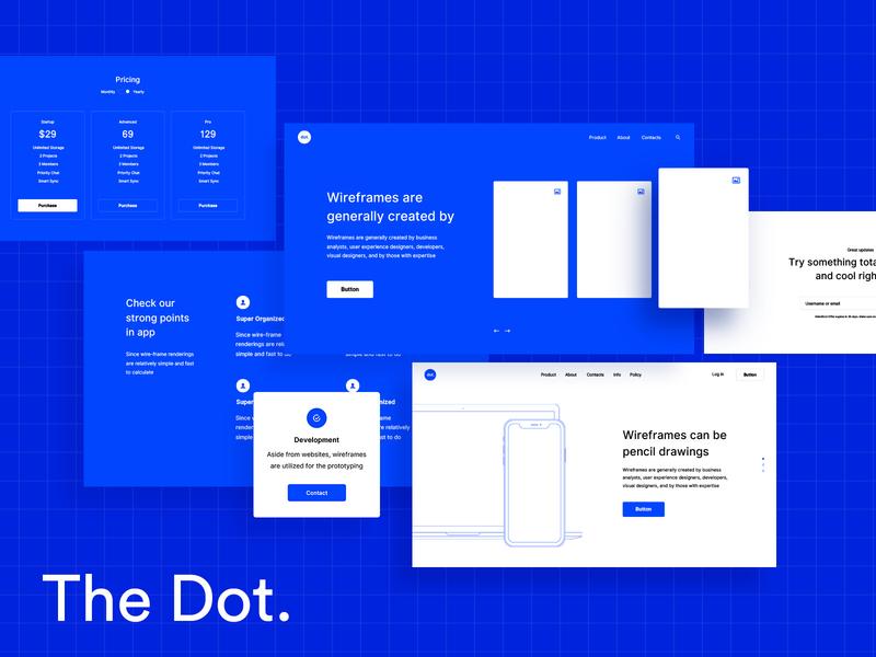 The Dot uid interface xd sketch figma ui pack kit wireframe ui kit
