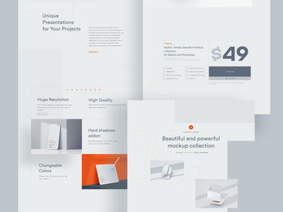 N.Mockups Landing mockup psd landing landing page design mock-up freebie download