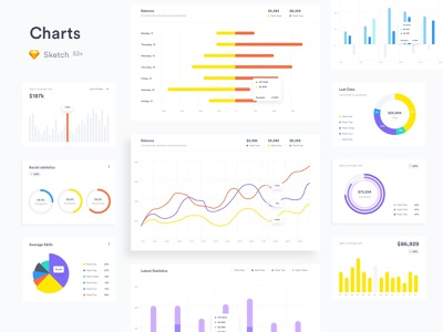 Free Charts for Sketch ui sketch diagram graph charts chart download mockup free freebie