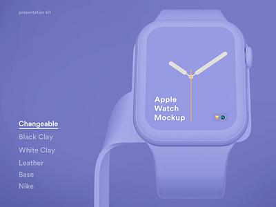 Apple Watch 4 Mockups ui sketch psd mock-up mockup watch apple apple watch 4 mockups