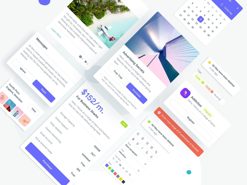 Design System design system ui kit popup banner text editor button price table ui ui dashboard