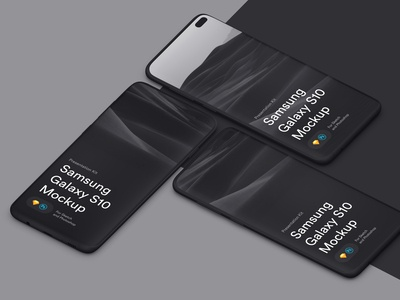 Samsungs Galaxy 10+ Mockups