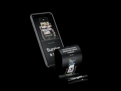 iPhone XS Long Scroll Mockup mock-ups photoshop psd freebie mock-up download free mockup