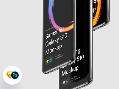 Samsung S10 Mockups galaxy s10 galaxy samsung galaxy s10 samsung free ui sketch mock-up download psd mockup