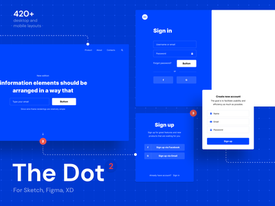The Dot 2 Wireframe UI Kit design ui uikit uiux wireframe wireframe kit wireframing wireframe design download figma sketch uxdesign adobexd xd vector