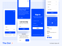 The Dot 2 Wireframe UI Kit