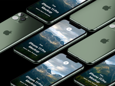 Free iPhone 11 Pro Mockup psd free sketch mock-up download mockup freebie iphone iphone x iphone 11 pro iphone 11