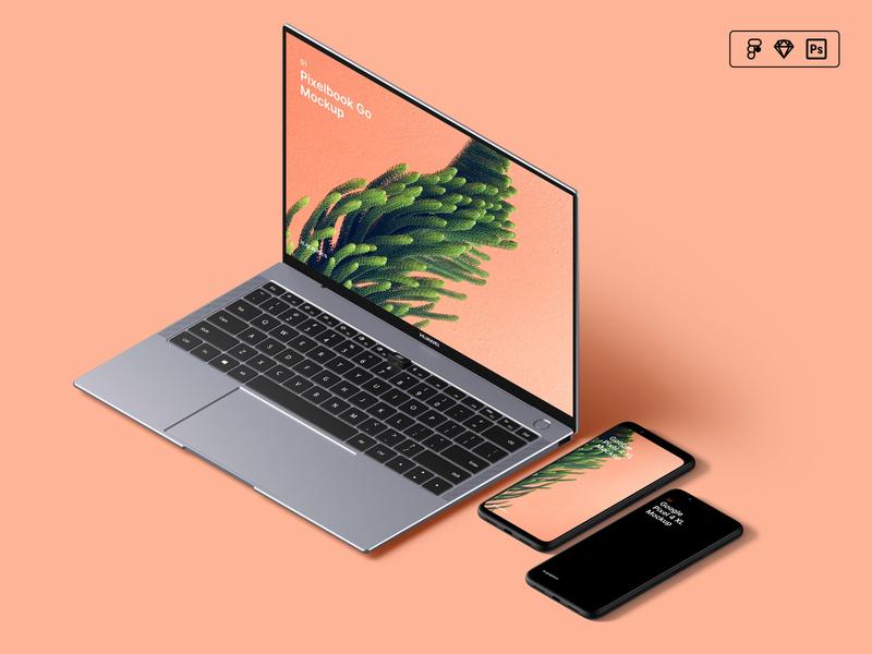 Isometric Mockup Scene Creator design iphone sketch figma mock-up freebie free download psd mockup