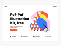 Pof-Pof! Free illustration kit