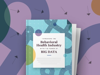 An Ebook on Big Data and Health health care pattern art direction illustration big data futuristic book cover ebook