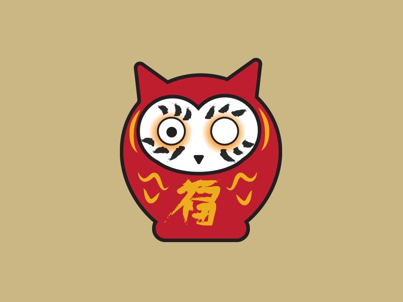 Owlruma japan illustration illustrator owl daruma