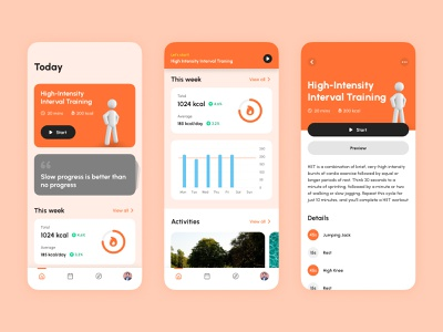 Workout App Concept · Home Screen analytics workout design inspirations insipirations mobile app app product product design ui design duyluong principle interaction design after effect ui interaction mobile animation