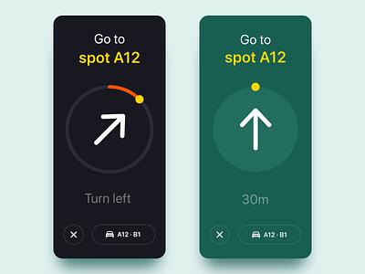 Parking Spot Finder App Concept app parking motion tracking navigation parking finder ux design ux product design duyluong interaction design after effect ui interaction mobile animation