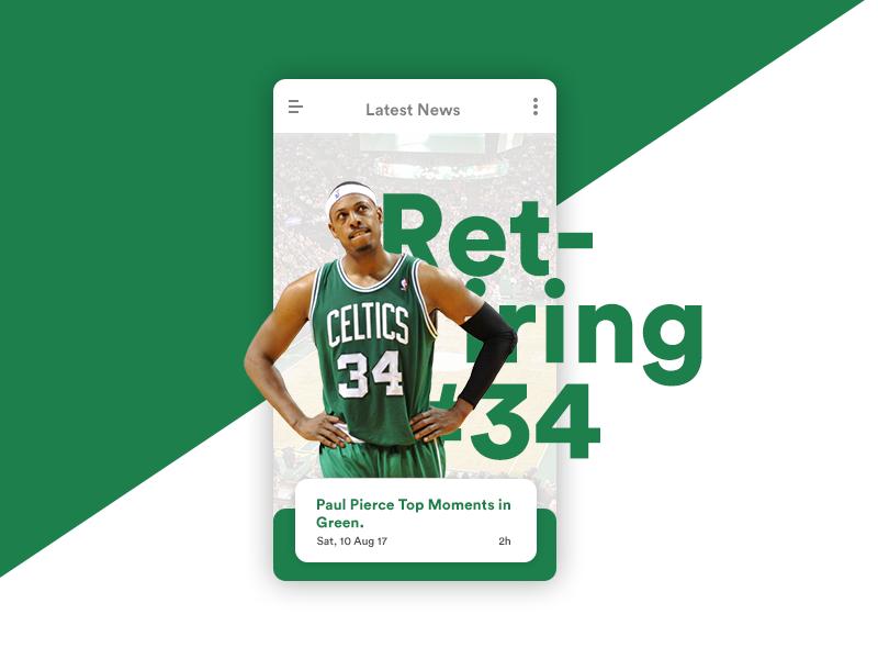 Boston Celtics App Concept By Azka Aiman On Dribbble