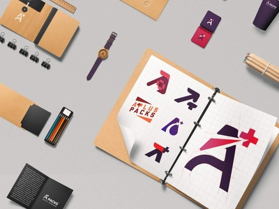 Aplus Packs - Quality Packaging - Logo - Copees 11 typography logo minimalism branding