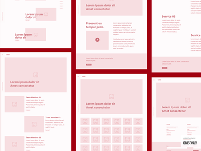 Wireframe for One&Only - Creative Agency | Website UI/UX uiux case study