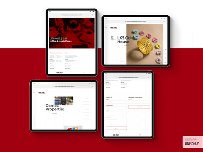 Tablet Ui for One&Only - Creative Agency | Website UI/UX uiux case study