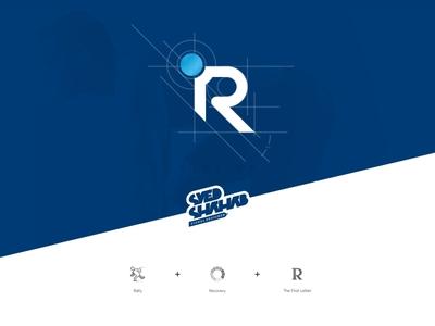 Rally Recovery - Fitness & sports Logo - SyedShahab.in sketch logo minimalism logo creative logo designed syed shahab logo with explanation r logo athlete logo running man logo rally recovery logo