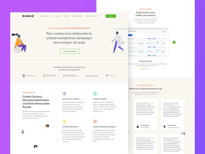 Landing Page of Rankz.io