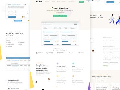 Pressly Landing Page illustration typography ux uitrends inspiration desktop designer ui web design