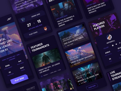 Online Gaming Tournaments Website dailyui gaming branding typography ux uitrends inspiration designer ui web design