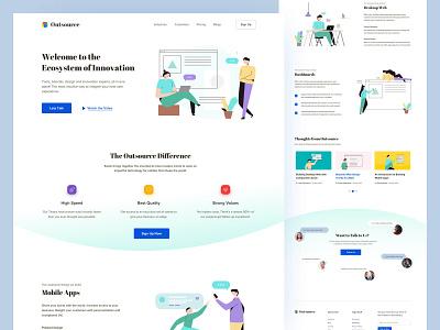 Design Agency Concept Website product design uitrend illustration typography ux uitrends inspiration desktop designer ui web design