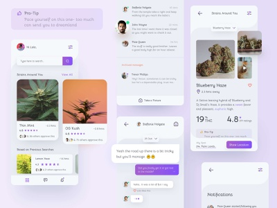 Weed Community App weed mobile ui mobile photography typography ux uitrends inspiration designer ui web design
