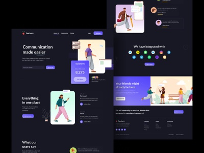 Top Cherry - All your chatting apps in one place typography landingpage visual design productdesign chat app uitrends digital illustration inspiration illustration desktop web skype